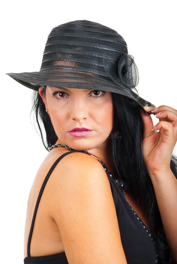 красивейшая шикарная женщина портрета стоковая фотография rf