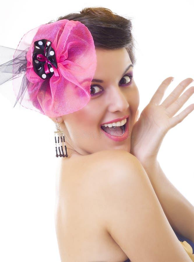 красивейшая excited женщина стоковое фото rf