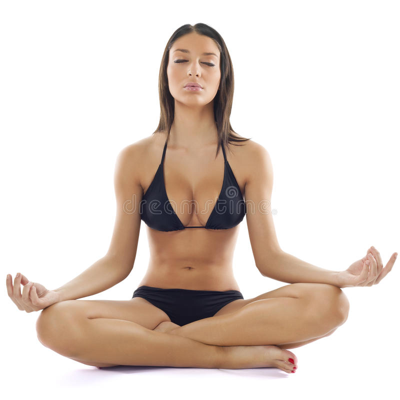 красивейшая practive йога женщины стоковые фотографии rf