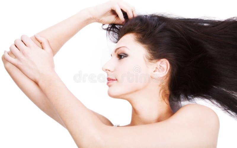 красивейшее брюнет стоковое изображение rf