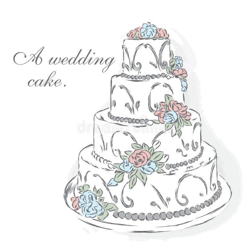 красивейшее венчание торта иллюстрация штока