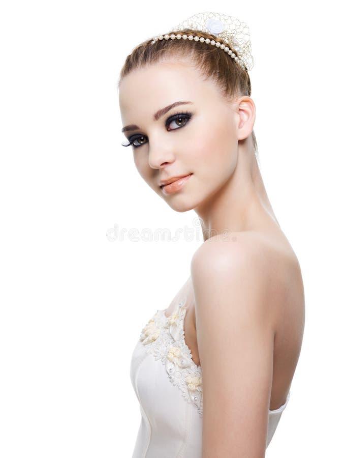 красивейшее венчание coiffure невесты стоковые изображения rf