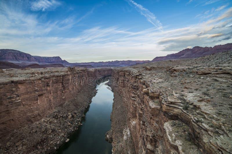 красивейшее лето мрамора ландшафта каньона стоковое фото