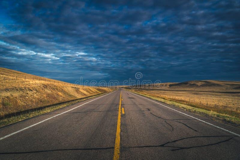 красивейшее лето дороги дня сельской местности стоковые изображения rf