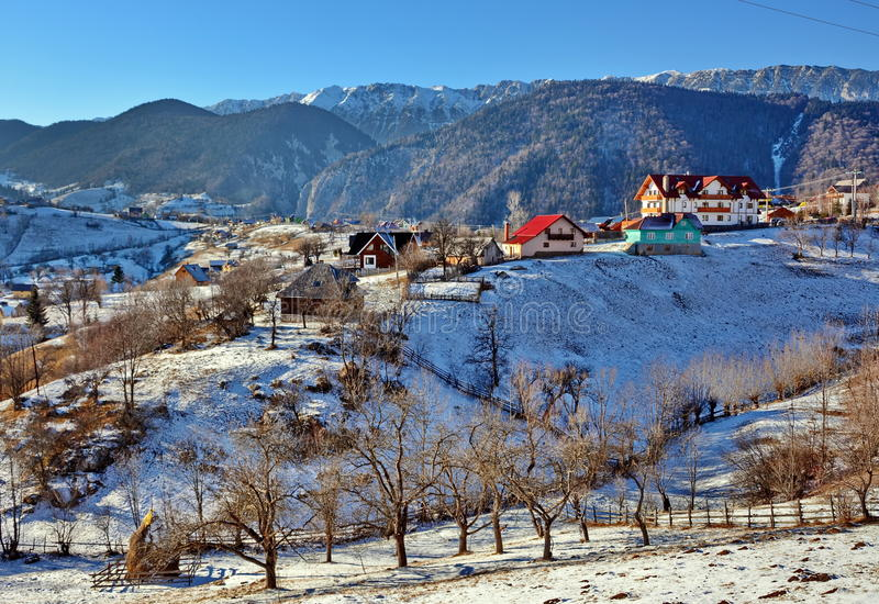 Красивейшее изображение зимы landscape стоковое изображение rf