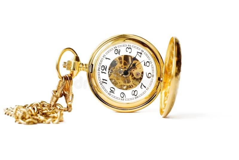 красивейшее карманн золота часов стоковое фото