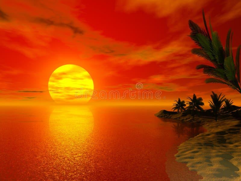 красивейшее место тропическое иллюстрация вектора