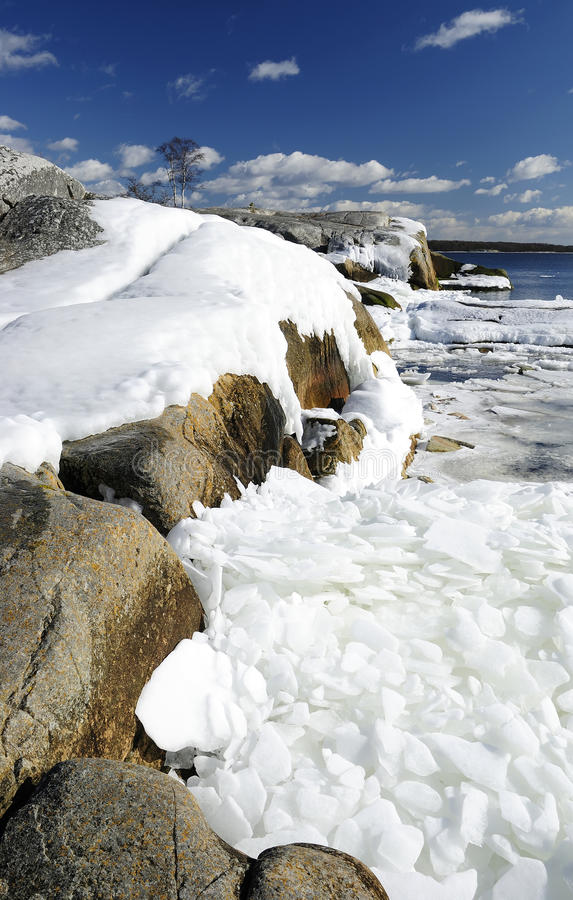 красивейшее море пейзажа в марше стоковые фотографии rf