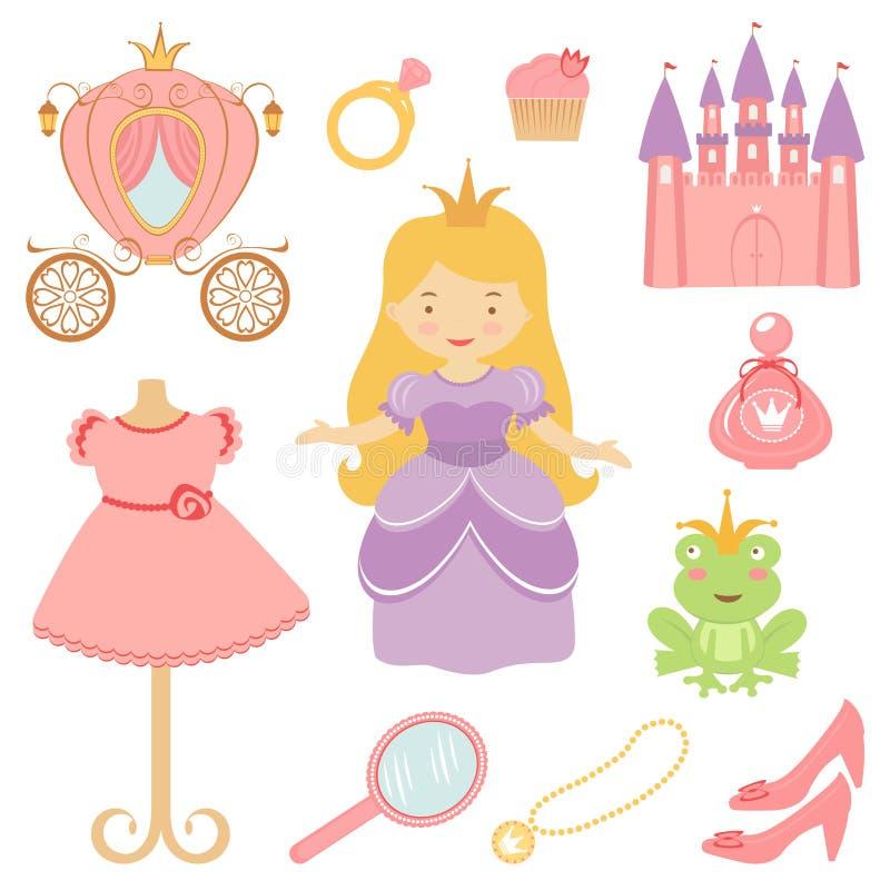 Красивейшее собрание princess бесплатная иллюстрация