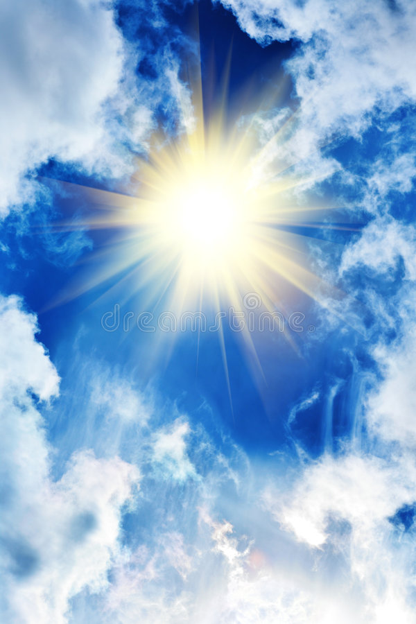 красивейшее солнце неба облаков стоковые фото