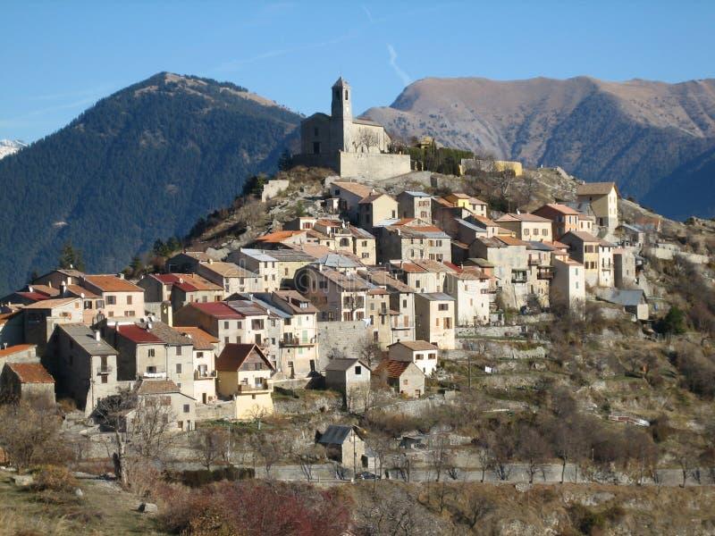 красивейшее средневековое село стоковое изображение rf