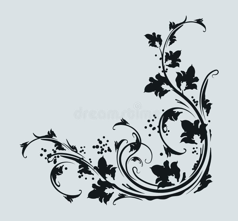 красивейшее угловойое флористическое иллюстрация вектора