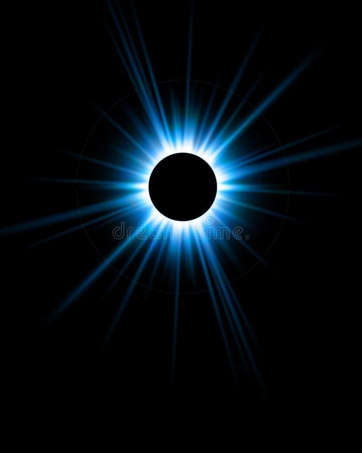 красивейшее цифровое затмение иллюстрация штока