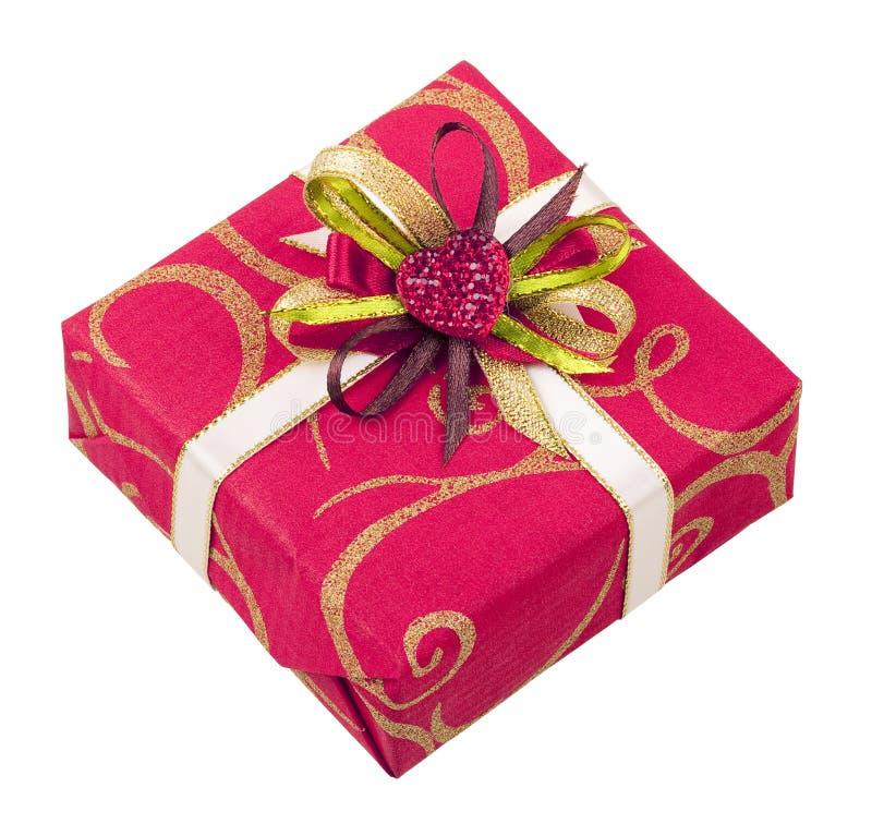 красивейшей лента изолированная коробкой розовая стоковая фотография rf