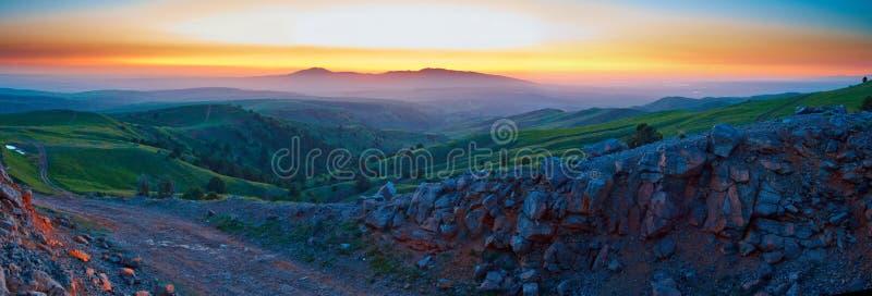 красивейше горы рассвета очень стоковые изображения