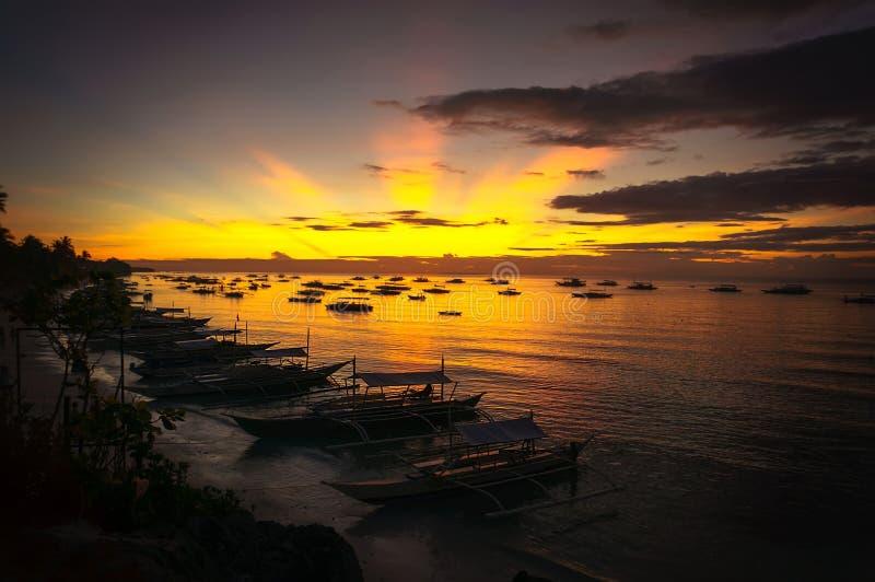 красивейше над восходом солнца моря стоковое изображение rf
