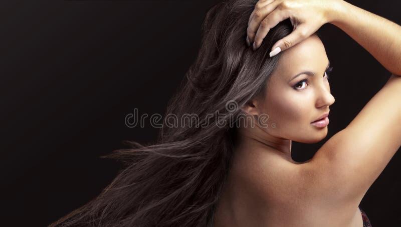 Красивейше составьте и волосы стоковая фотография