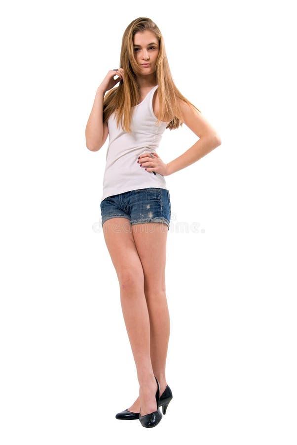 красивейшие белокурые детеныши девушки способа стоковые фото