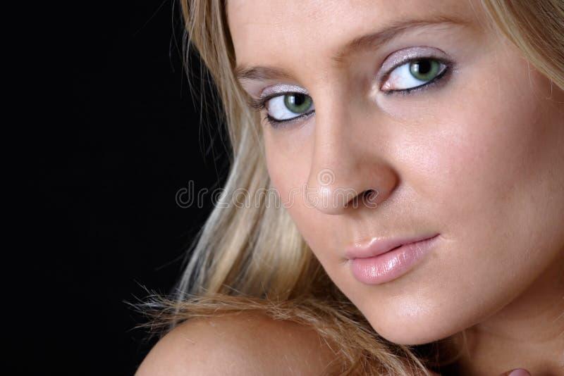 красивейшие близкие глаза зеленеют вверх стоковые фотографии rf