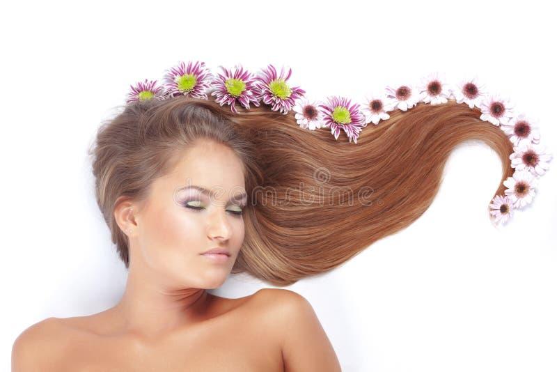 красивейшие волосы стоковые фото