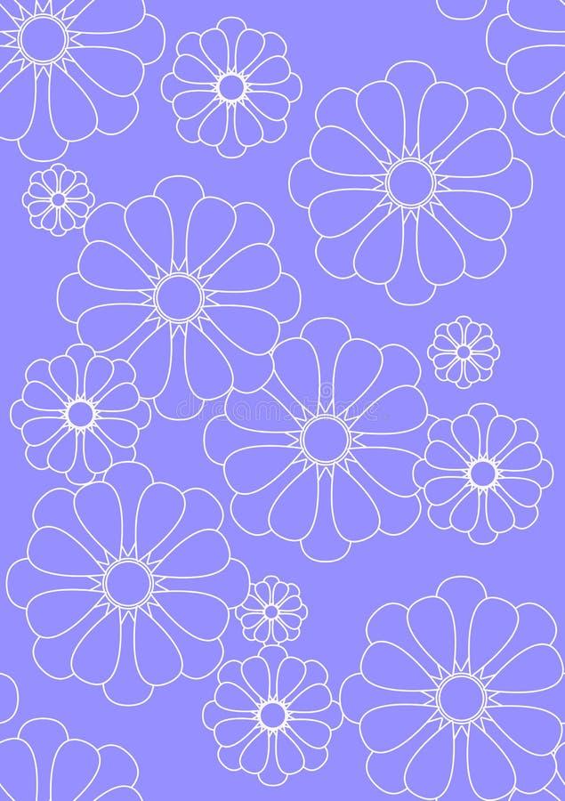 красивейшие голубые обои иллюстрация вектора