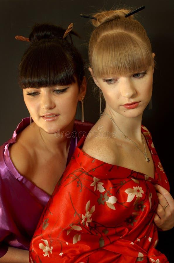 красивейшие девушки гейши стоковое изображение rf