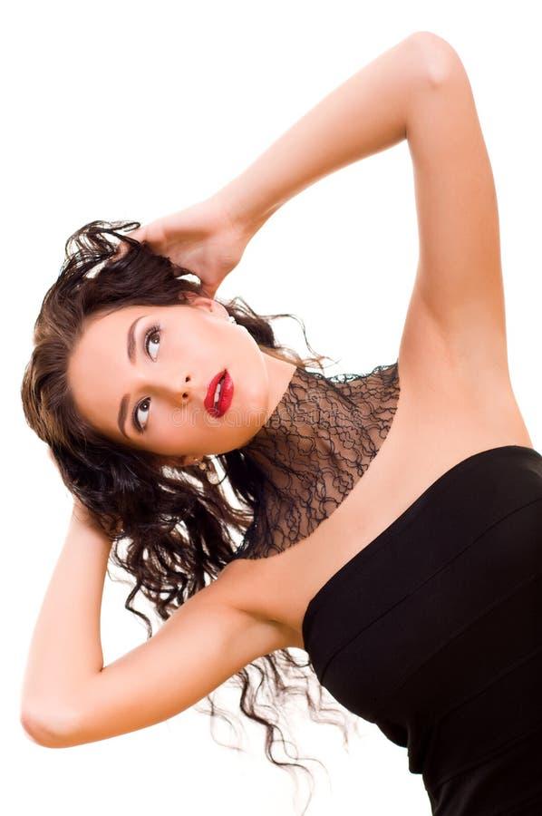Download красивейшие детеныши женщины брюнет Стоковое Изображение - изображение насчитывающей выражение, здоровье: 18386455