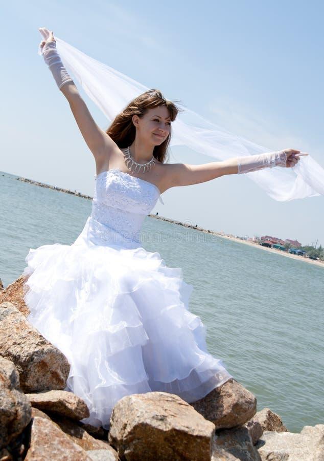 красивейшие детеныши серии портрета невесты стоковая фотография rf