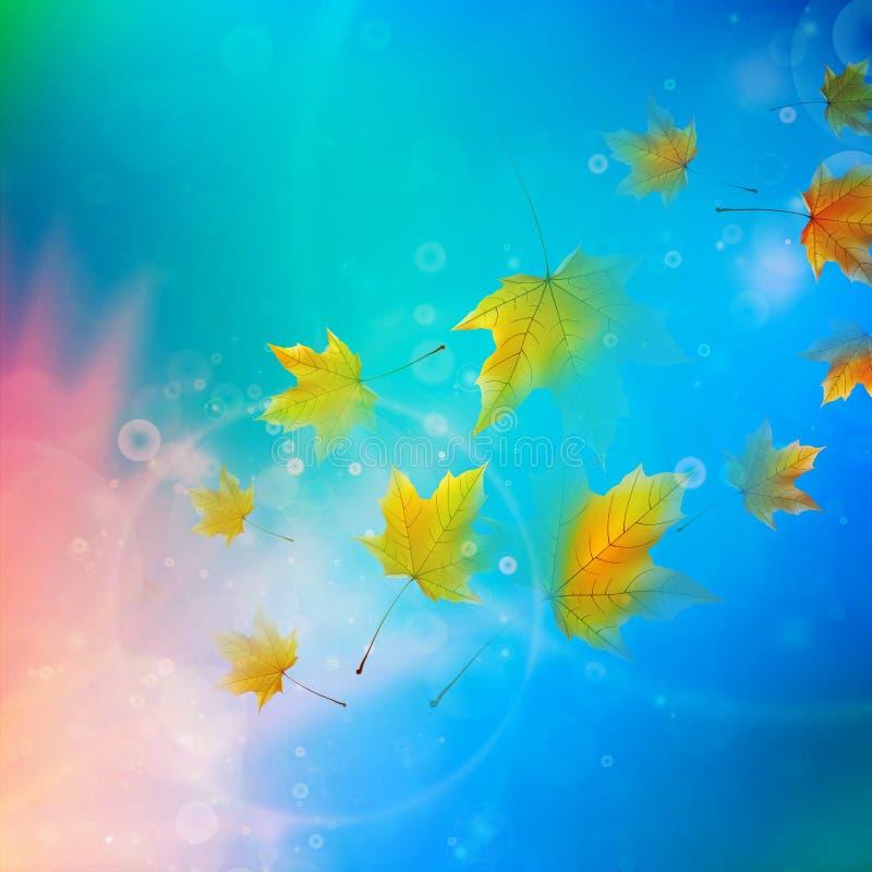 Красивейшие листья осени иллюстрация штока