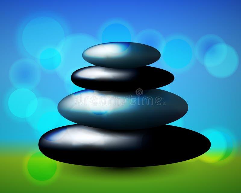 красивейшие камни спы иллюстрации бесплатная иллюстрация