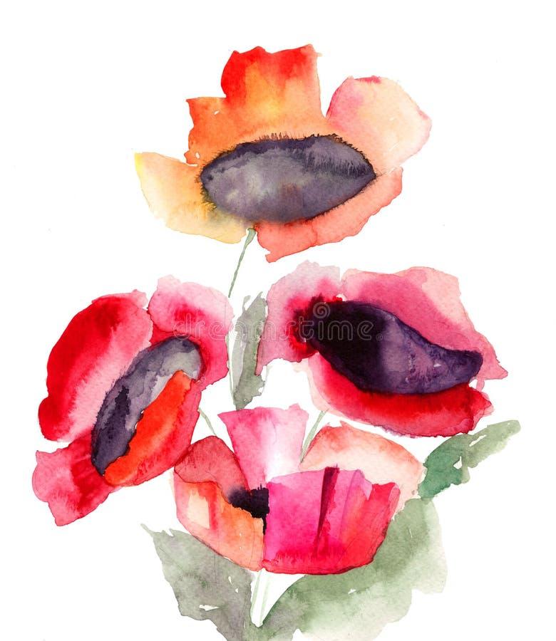 Красивейшие красные цветки Стоковые Фотографии RF