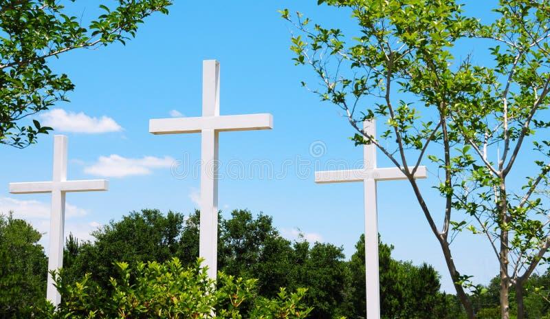 красивейшие кресты outdoors установили стоковые фотографии rf
