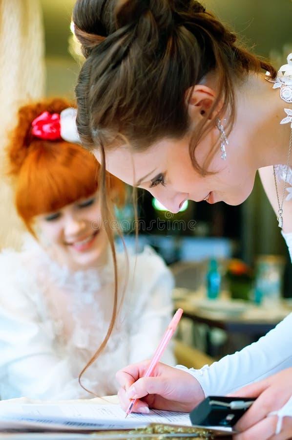 красивейшие невесты стоковое фото rf