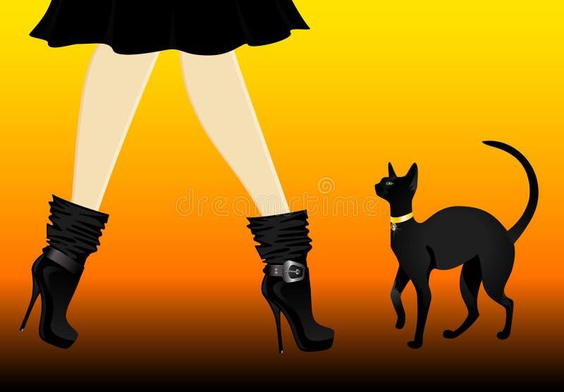 красивейшие ноги womanish иллюстрация штока