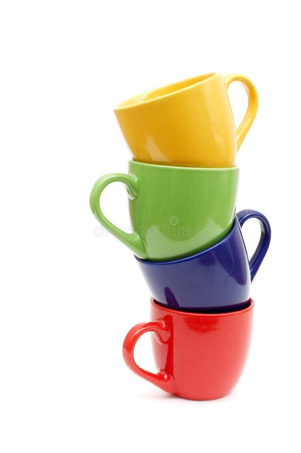 красивейшие чашки цвета стоковая фотография