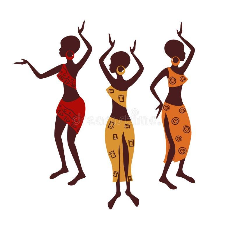 Красивейшие этнические женщины иллюстрация вектора