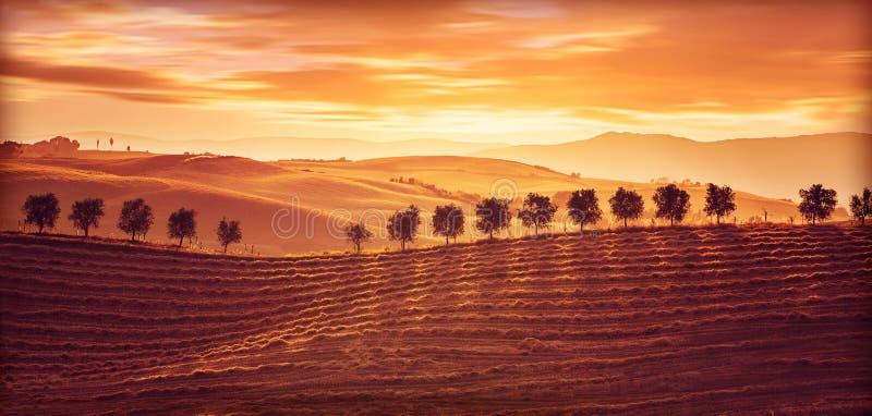 красивейший ландшафт сельской местности стоковое фото