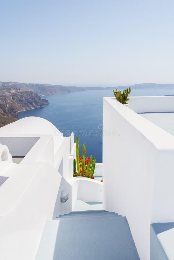 Красивейший взгляд в Oia, Santorini, Греции стоковое изображение rf