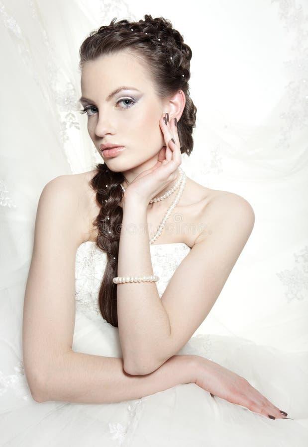 красивейший евроец невесты стоковые изображения