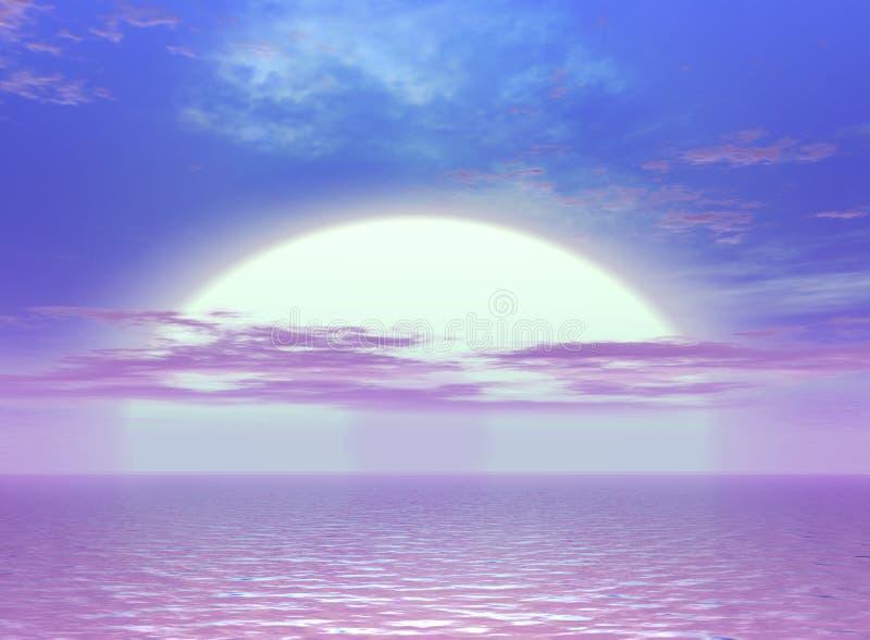 красивейший заход солнца иллюстрация штока
