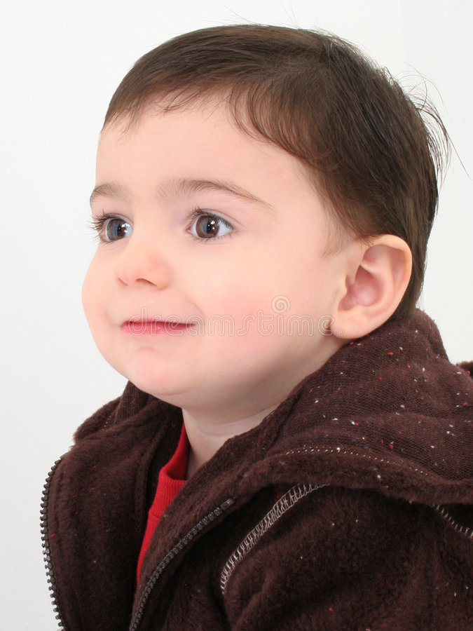 красивейший малыш профиля мальчика стоковая фотография