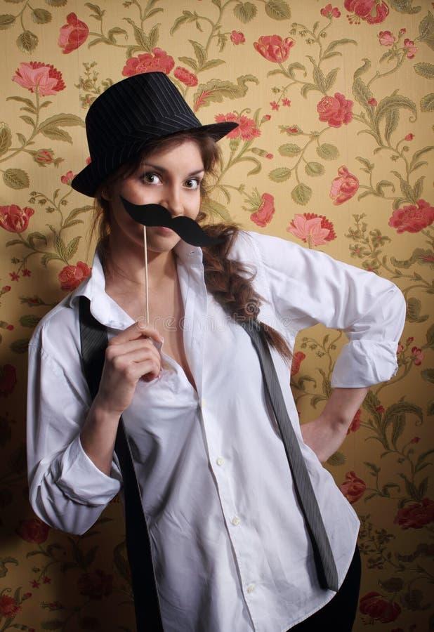 красивейший милый усик девушки стоковое фото
