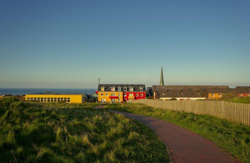 красивейший немецкий остров helgoland стоковое фото rf