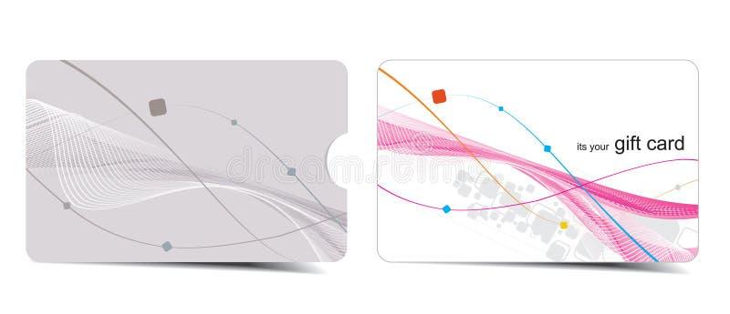красивейший подарок карточки иллюстрация вектора