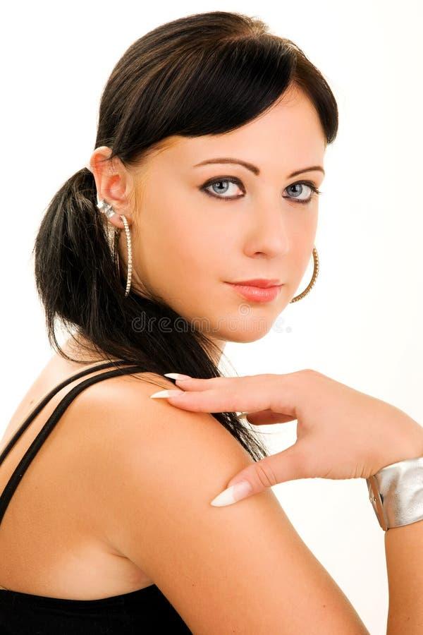 Красивейший портрет молодой женщины стоковые изображения