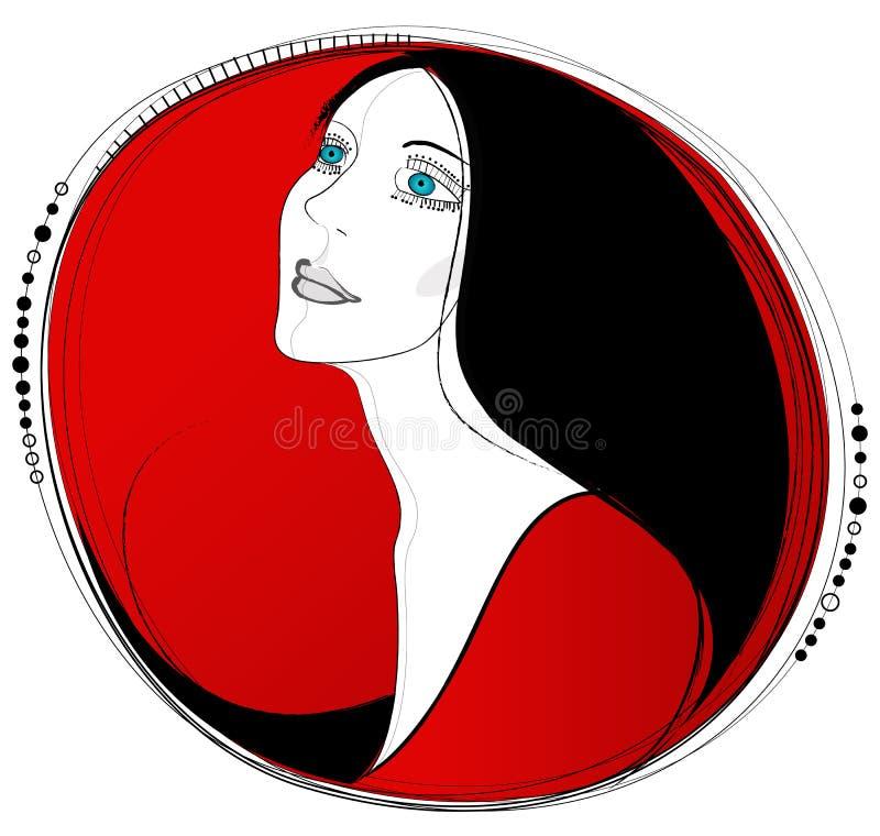 красивейший портрет бесплатная иллюстрация