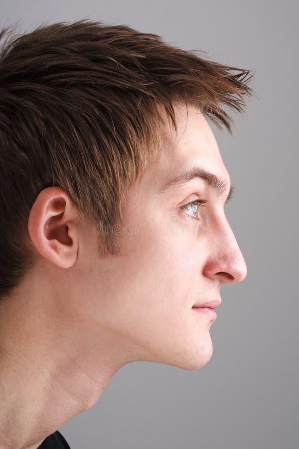 красивейший профиль человека стоковое фото rf
