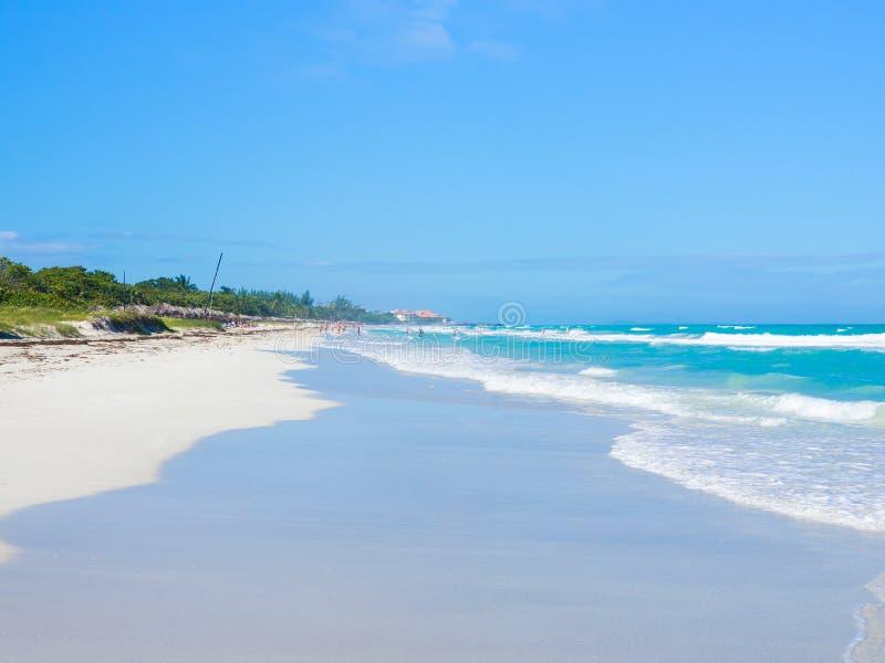 Красивейший пляж Varadero в Кубе стоковое фото rf