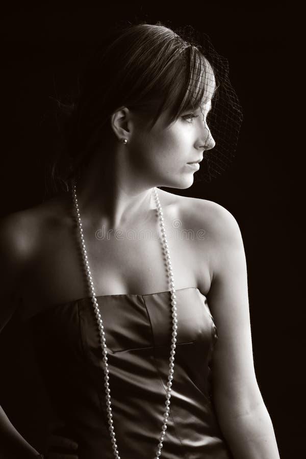красивейший сбор винограда типа девушки одежды стоковые изображения