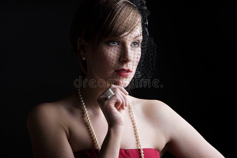 красивейший сбор винограда типа девушки одежды стоковые изображения rf